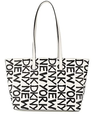 DKNY Bolsa tiracolo pequena com logo - Branco