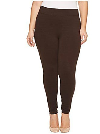 Hue Womens Plus Size Cotton Ultra Legging with Wide Waistband, Assorted, Espresso, 2X