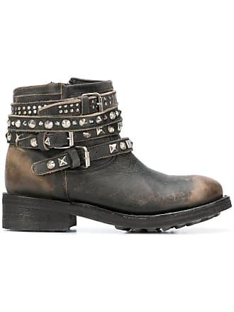78934fec072b Ash Tatum biker ankle boots - Black
