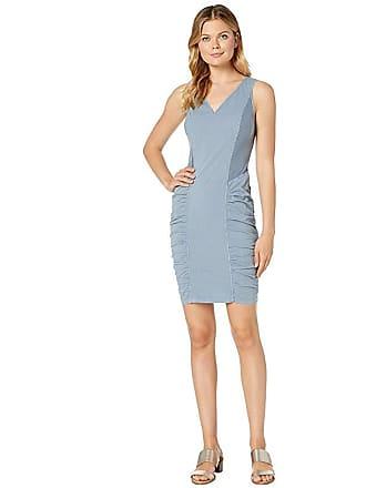 Xcvi Wearables Raymond Dress in Stretch Poplin (Spry Blue Pigment) Womens Clothing