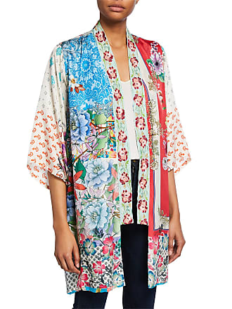 f35d7dffa2f01 Johnny Was Kukui Multi-Patterned Silk Georgette Kimono