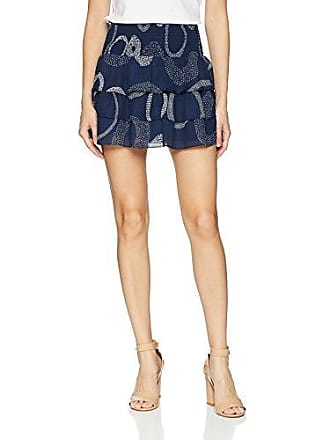 Ramy Brook Womens Printed Annabelle Skirt, Navy Combo, Large