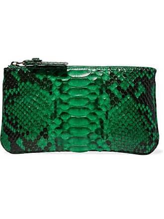 Ximena Kavalekas The Cross Python Clutch - Emerald