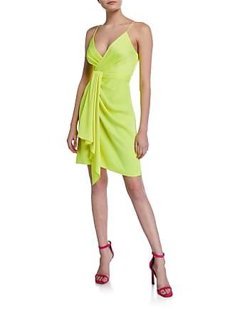 3c4afd9c7b7 Jay Godfrey Feig V-Neck Spaghetti-Strap Drape-Front Mini Dress