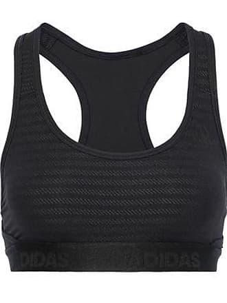 927b9516f92 adidas Adidas Originals Woman Cutout Jacquard-knit Sports Bra Black Size XXS