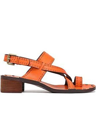 2655f3f296ab See By Chloé See By Chloé Woman Embossed Leather Slingback Sandals Orange  Size 35