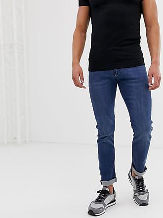 Armani J13 stretch slim fit jeans in mid blue wash - Blue