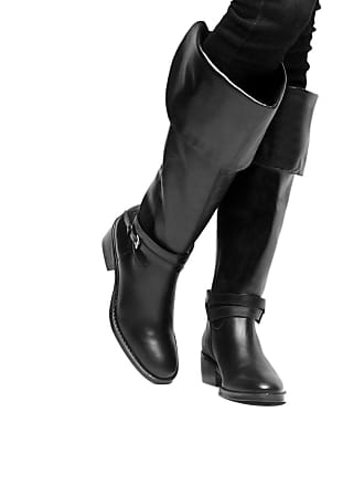 de5534492 Shoestock Bota Couro Over The Knee Shoestock Fivelas Feminina - Feminino
