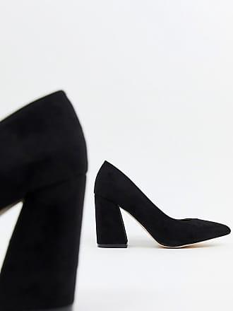 e2e589898c4b London Rebel Wide Fit Point Block Heels - Black