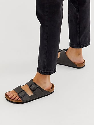 Birkenstock Arizona - Sandali antracite in pelle vegan-Grigio
