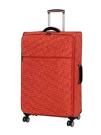 IT Luggage 30.5 Stitched Squares Lightweight Case, Orange