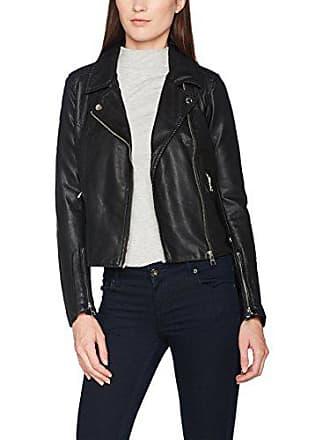 ef1e515c539e4 Tom Tailor Denim Fake Leather Biker Jacket, Blouson Femme, Noir (Black 2999)