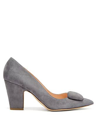 e6d3580cc64a Rupert Sanderson Pierrot Suede Pumps - Womens - Light Grey