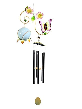 Great World Company Butterfly Vine Wind Chime with Solar Ball - 3021002
