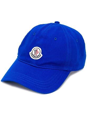 Moncler logo patch cap - Azul