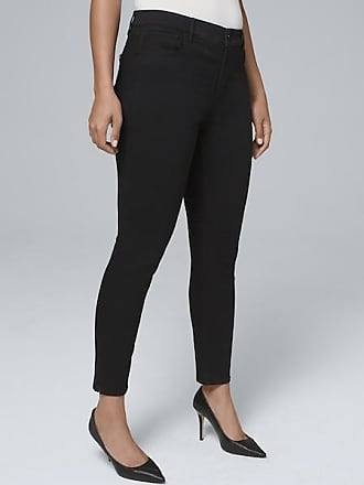 White House Black Market Womens Curvy-Fit High-Rise Skinny Crop Jeans by White House Black Market, Black, Size 10 - Regular