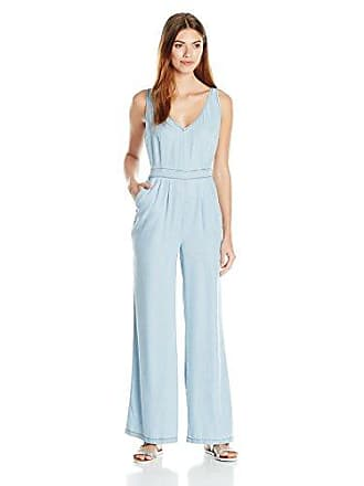 e30b02ce8124 cupcakes and cashmere Womens Deven Washed Chambray Jumpsuit with Back  Cutout