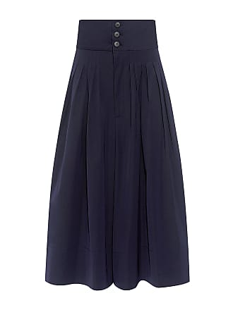 Sea New York High-rise Micro Pleated Culotte Navy