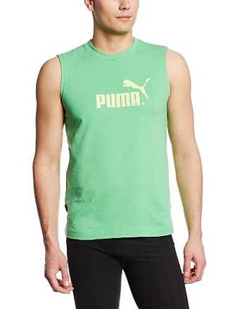 4cea7860 Puma Mens Large Logo No. 1 Muscle Tee, Island Green/Sunny Lime