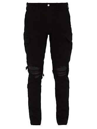 28ac50294563 Amiri Mx1 Slim Leg Cotton Blend Cargo Trousers - Mens - Black