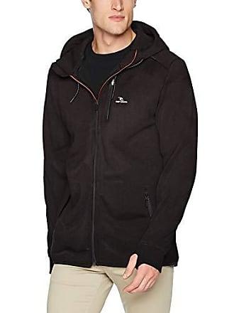 Rip Curl Mens Departed Anti Series Zip up Hooded Fleece Sweatshirt, Charcoal 18, Medium