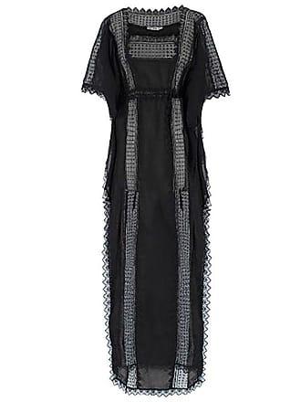 be5cf4a99be 1stdibs Charo Ruiz Black Lace-trimmed Maxi Kaftan Us 6