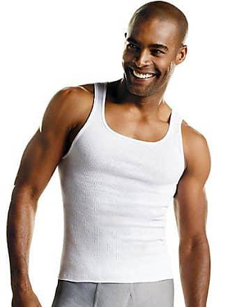 Hanes Mens ComfortSoft Tank Undershirt 10-Pack White XL