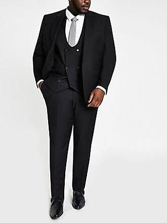 River Island Mens Big and Tall black suit pants