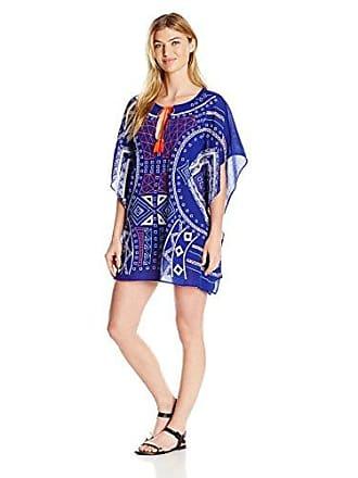 9dd4bd5301d7 Trina Turk Womens Jakarta Embriodery Caftan Cover Indigo, L