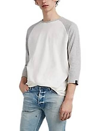 dceed2214 Rag & Bone Mens Rigby Double-Knit Cotton Baseball T-Shirt - Ivorybone Size