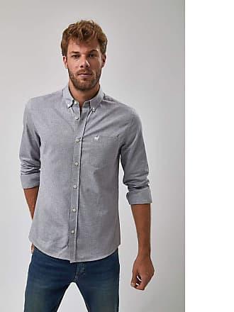 Zapalla Camisa Oxford - Cinza - Tamanho X