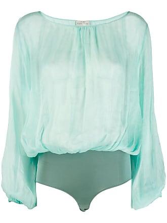Forte_Forte draped body blouse - Green