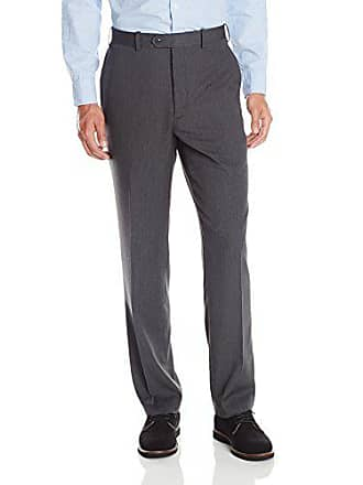 U.S.Polo Association Mens Flat Front Pant, Grey Stripe, 40W x 30L