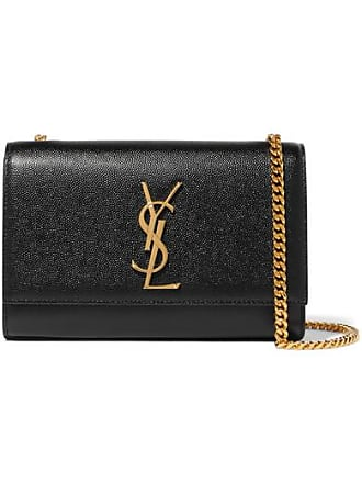 Saint Laurent Monogramme Kate Small Textured-leather Shoulder Bag - Black