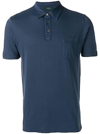 Zanone Camisa polo com bolso - Azul