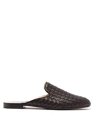 7f7d9f994 Bottega Veneta Intrecciato Leather Slipper Shoes - Womens - Black