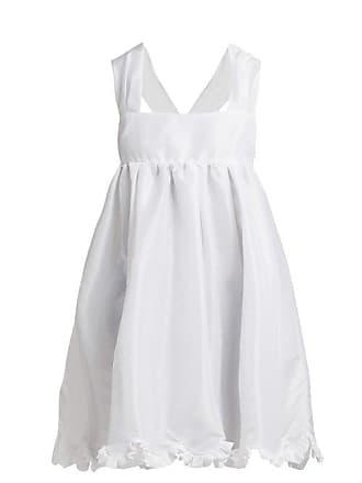 Cecilie Bahnsen Pil Ruffle Trimmed Satin Mini Dress - Womens - White