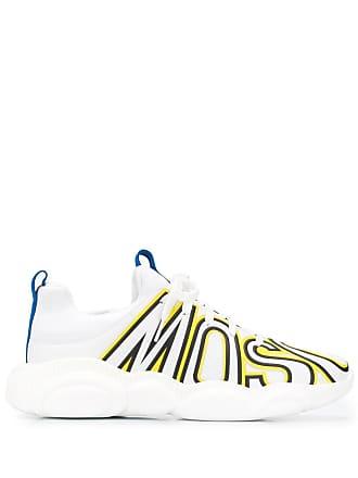 Moschino logo print sneakers - White