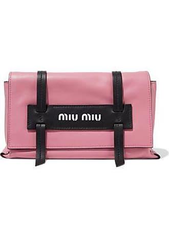 8ebe11cef Miu Miu Miu Miu Woman Grace Two-tone Leather Shoulder Bag Pink Size