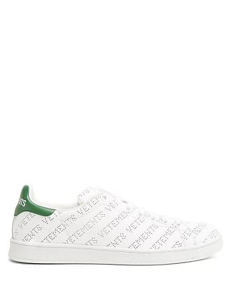 VETEMENTS Low Top Perforated Leather Trainers - Womens - Green White