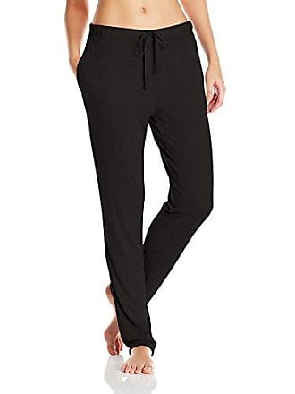 Natori Womens Speckled Interlock Pant, Black, Extra Large