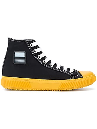 d813c2db5279d Prada logo patch hi-top sneakers - Black