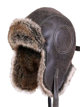 f0924637cdf Insun Unisex Winter Ski Aviator Hat Classic Pilot Hunting Trapper Cap Brown  L