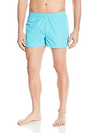 21477f6cceff4 Guess Mens Packable Travel 13 Inch Elastic Waist Swim Trunk, Turquoise  Night/BLEU,