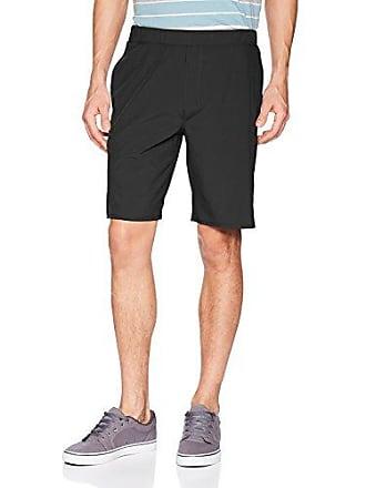 Hurley Mens Elastic Waist 20 inch Alpha Trainer Short, White//Black, L