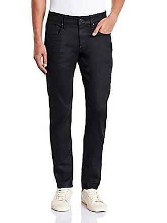 G-Star Mens Revend Super Slim Fit Pant in Black Print Stretch Denim, 3D Dk Aged, 34x32