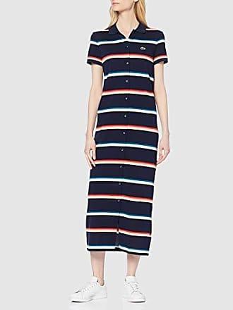 01a5e15030 Lacoste EF3958 Robe, Femme Bleu (Marine 166),36 (Taille Fabricant: