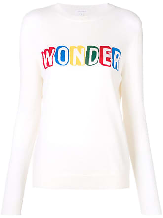 Chinti and Parker Suéter mangas longas com slogan - Branco