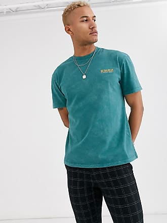 Topman oversized t-shirt with Budapest logo in green
