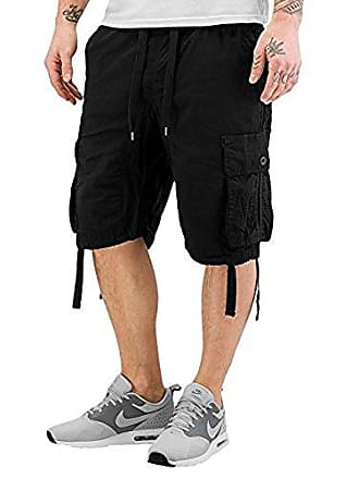 b72f10a7daa9c Southpole Mens Jogger Shorts with Cargo Pockets in Solid and Camo Colors,  Black(New
